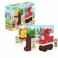 BiOBUDDi - Fire Truck - Eco Friendly Block Set - 29 Blocks
